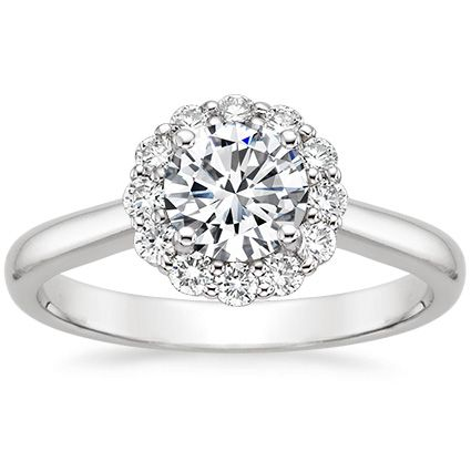 Platinum Lotus Flower Diamond Ring from Brilliant Earth CAD $1940