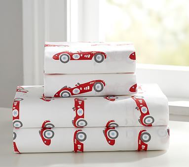 Vintage Cars Sheet Set, Extra Pillowcase