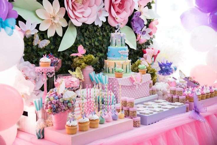 Butterflies and Flowers Birthday Party Birthday Party Ideas | Photo 1 of 17