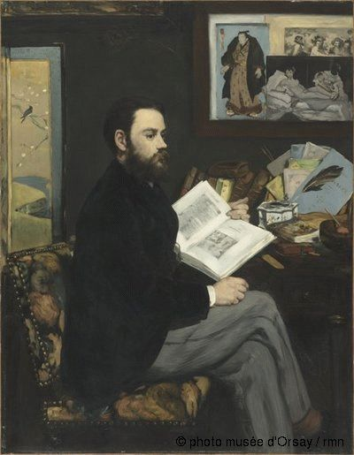 Edouard Manet Emile Zola en 1868 huile sur toile H. 1.46 ; L. 1.14 musée d'Orsay, Paris, France ©photo musée d'Orsay / rmn
