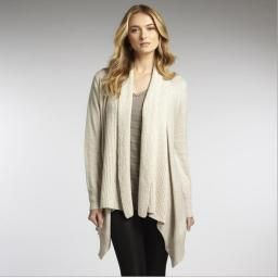 Ribbed Collar Cardi, Sugar, S : P'LOVERS