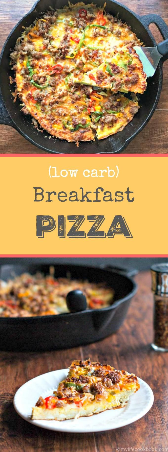 Low Carb Breakfast Pizza Recipe Low carb breakfast, No