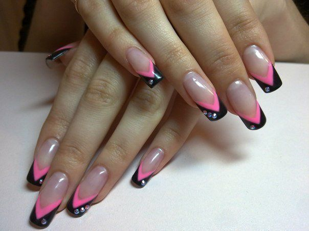 Beautiful nails, Color french manicure, Festive French nails, French manicure…