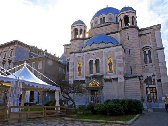 La chiesa di San Spiridione, di religione serbo-ortodossa