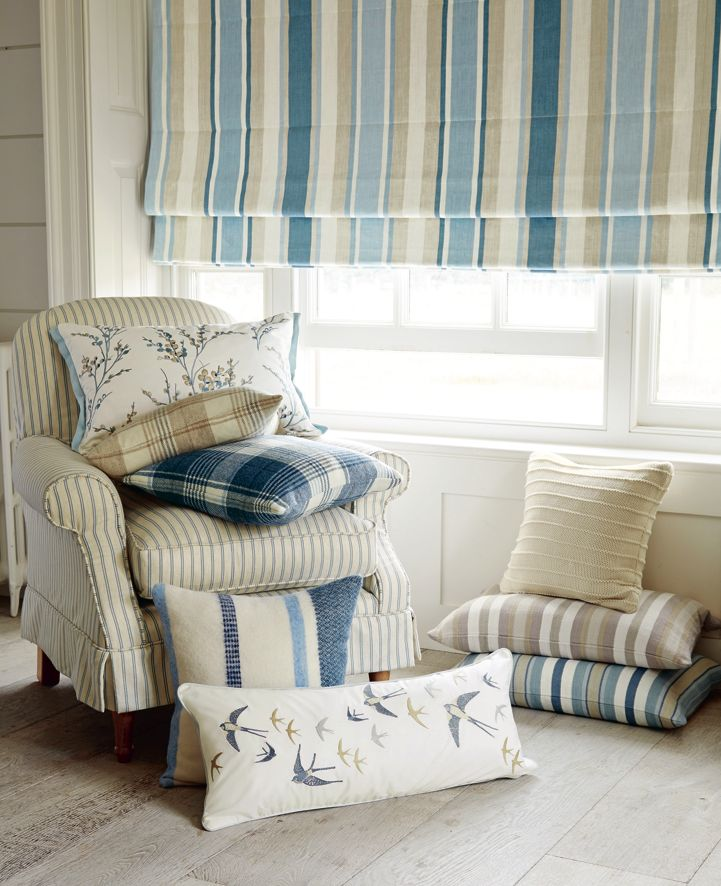Laura Ashley Spring/Summer 2015: Casual Country  Love the bird pillow  IDEA: create that look using transfer printing to iron on individual birds