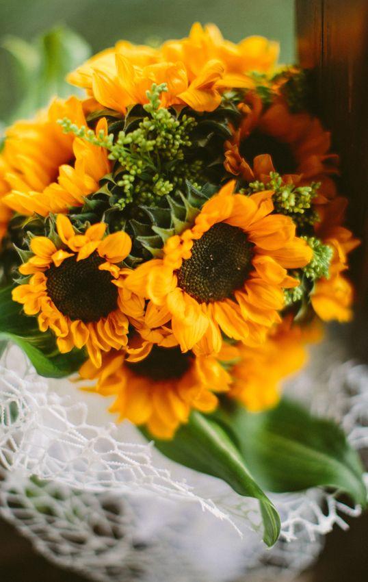 Sunflower Wedding Bouquet  #yellow #sunflower #wedding #bouquet #zukistudio