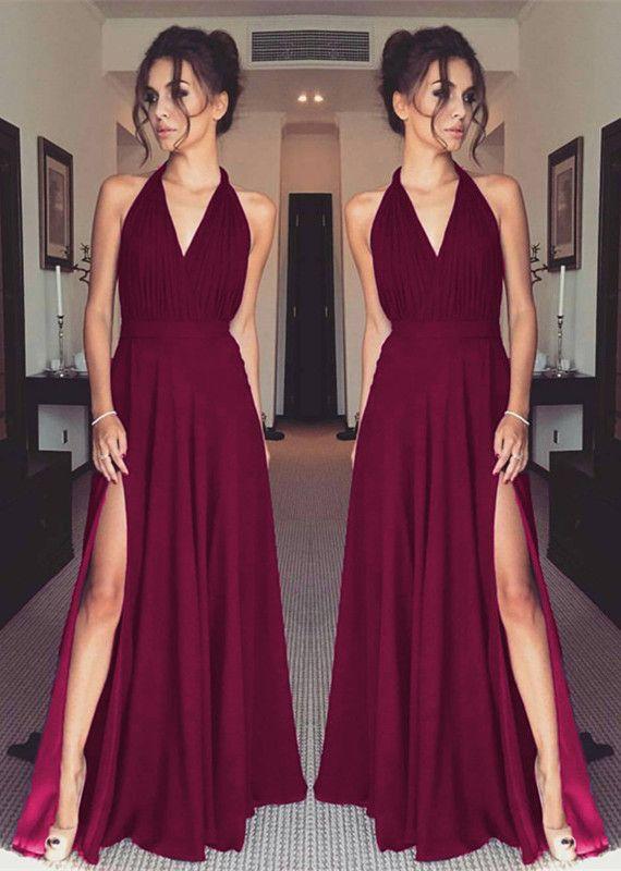 dd093f1a2993 halter bridesmaid dresses,chiffon bridesmaid dresses,burgundy bridesmaid  dresses