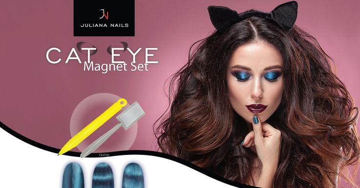 Ab sofort in allen Juliana Nails Stores erhältlich - Cat Eye Magnet Set Schnell sein, in einem unserer Juliana Nails Stores vorbei schauen und wunderbare Nailart Kreationen auf eure Nägel zaubern :-) https://juliana-nails.at/shop/product/cat-eye-magnet-set-7795