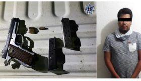 Por posesión ilegal de arma de fuego es detenido por la policía estatal