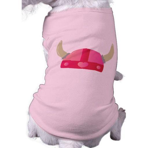 Capacete do amor de Viking Camisa Sem Mangas Para Cachorro