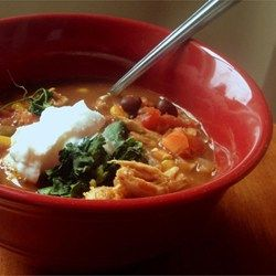 Slow Cooker Chicken Taco Soup Recipe - it cooks in beer, Meg!!