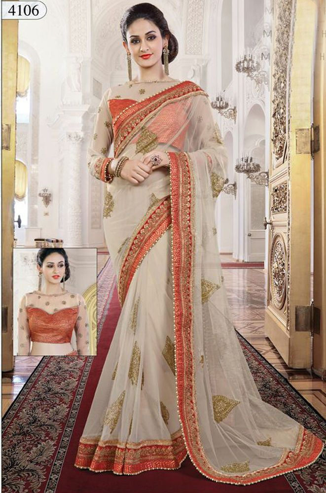 Wedding sarees Indian ethnic designer saree blouse with heavy embroidery work #Handmade #sareesari