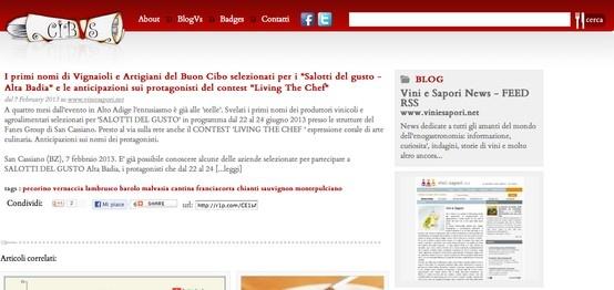 I Salotti del Gusto su CIBVS http://www.cibvs.com/post/222/278250/i-primi-nomi-di-vignaioli-e-artigiani-del-buon-cibo-selezionati-per-i-salotti-del-gusto-alta-badia-e-le-anticipazioni-sui-protagonisti-del-contest-living-the-chef
