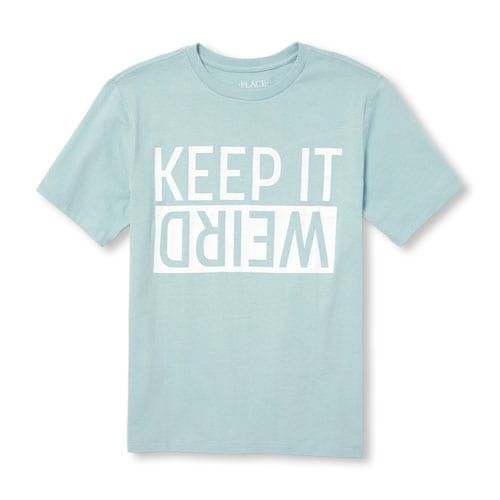 fe2c69895 Boys Short Sleeve 'Keep It Weird' Graphic Tee | Products in 2019 ...