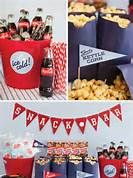 baseball 'snack bar' - could do soda cans or punch. No cotton candy.