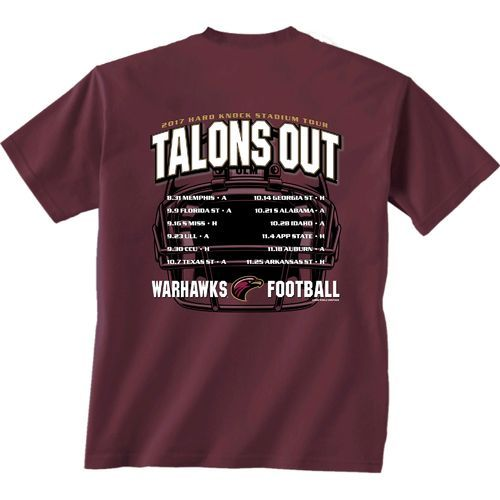 New World Graphics Men's University of Louisiana at Monroe Football Schedule '17 T-shirt (Red Dark, Size Small) - NCAA Licensed Product, NCAA Men's...