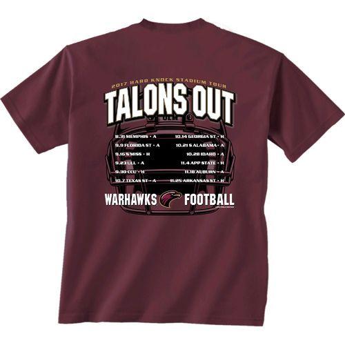 New World Graphics Men's University of Louisiana at Monroe Football Schedule '17 T-shirt