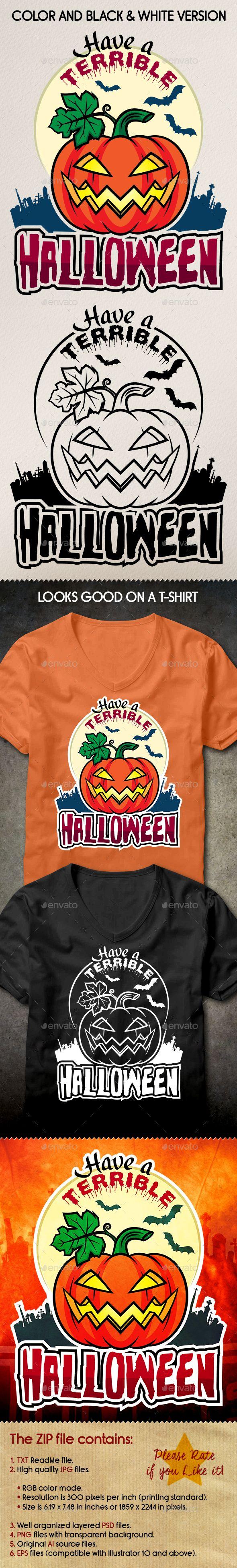 Terrible Halloween Sticker