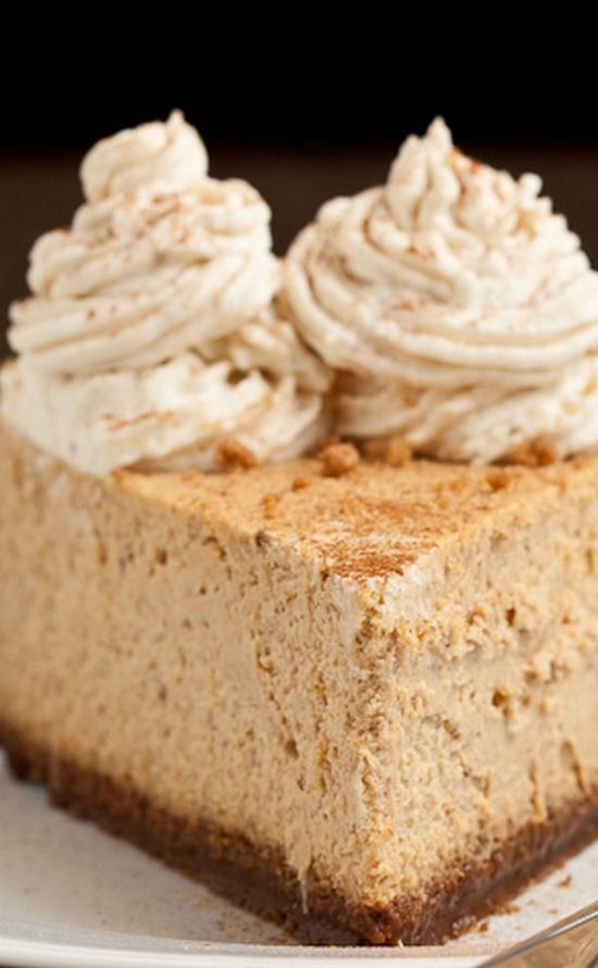 New York Style Pumpkin Cheesecake -- High, dense, rich, and full of the best fall flavors. On top of a gingersnap crust. Simply delicious!