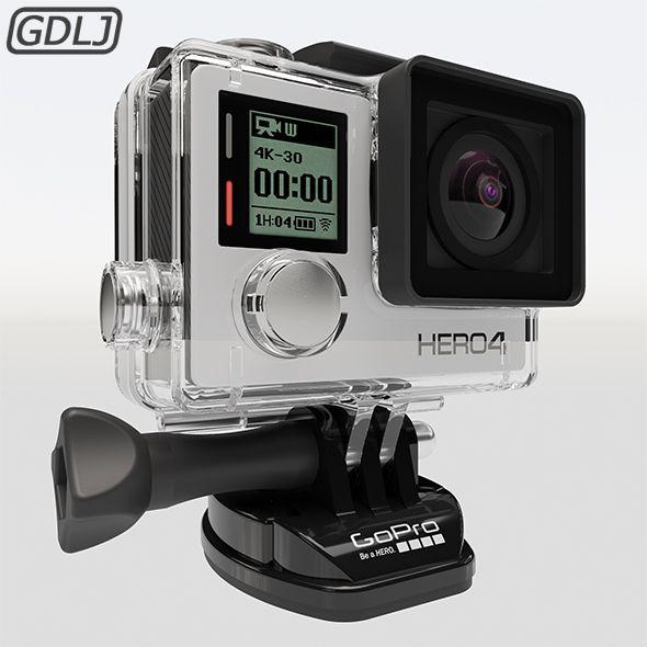 Gopro Hero4 3d Model Gopro Adventure Camera