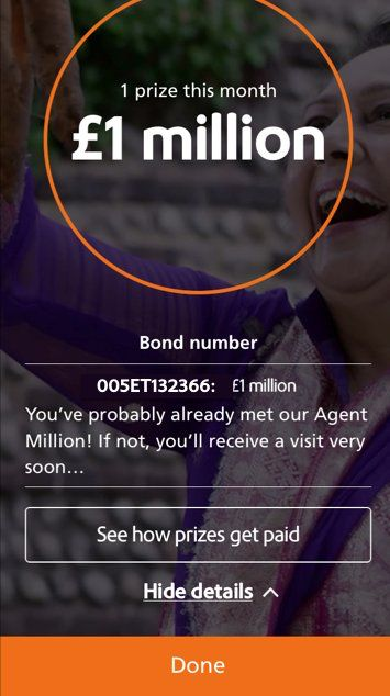 Premium bonds winner