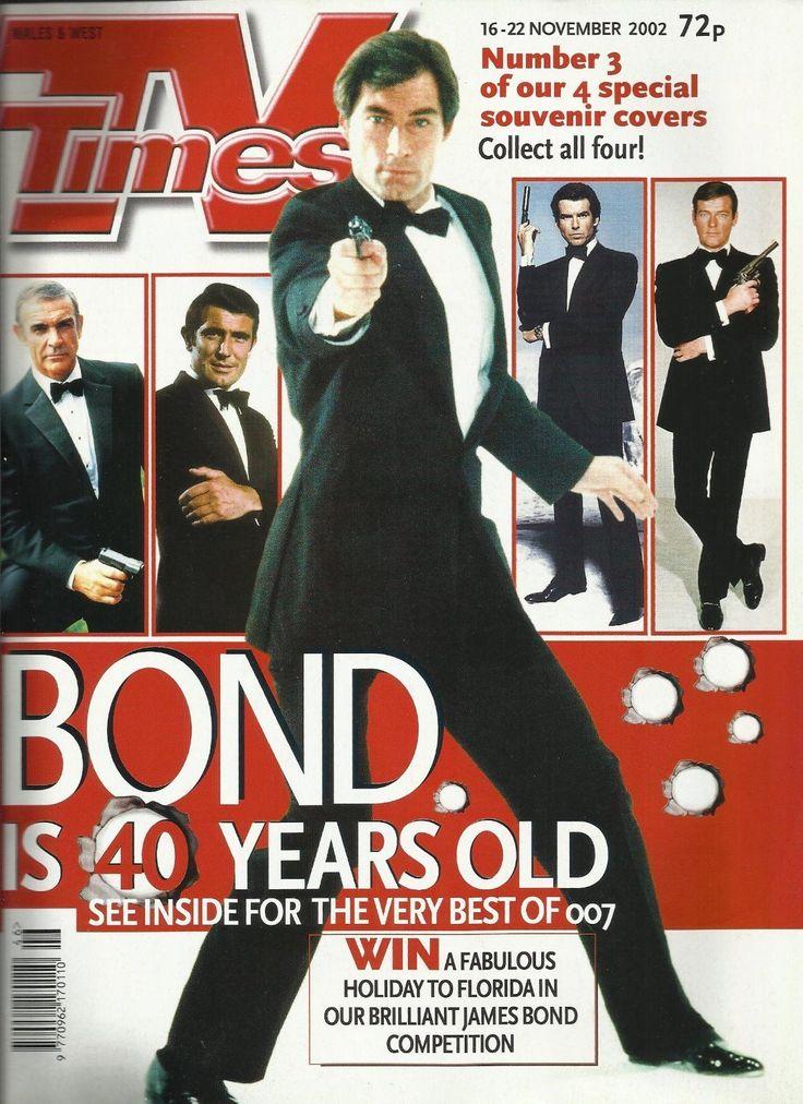 James Bond 40th Anniversary TV Times Magazine Timothy Dalton cover   eBay