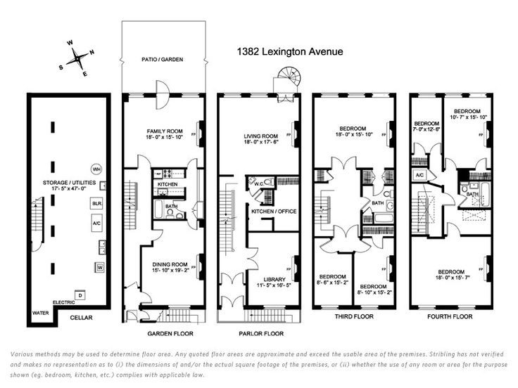 Nyc Townhouse Floor Plans: Go Back > Gallery For > Historic Brownstone Floor Plans