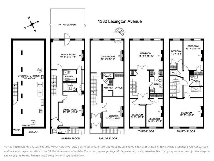 Go Back > Gallery For > Historic Brownstone Floor Plans