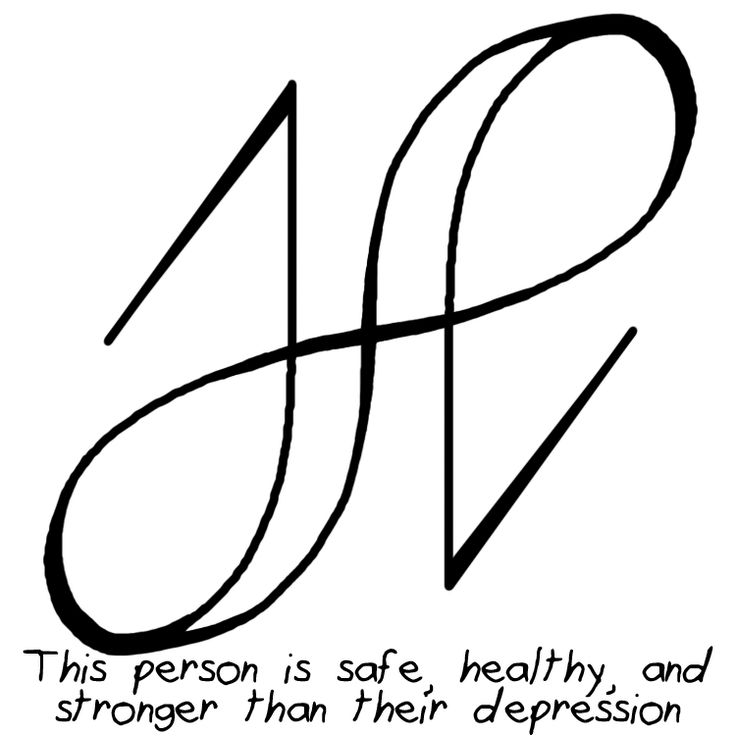 """This person is safe, healthy, and stronger than their depression"" sigil Requested by Anonymous I changed it from ""My friend"" because that isn't very specific. So to use this one find a picture of your friends or write out their full name and then draw the sigil on top of it."