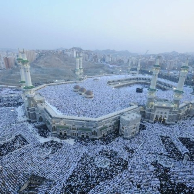 Millions gathered to worship the one God who created and sustains us all. Allah the Most High