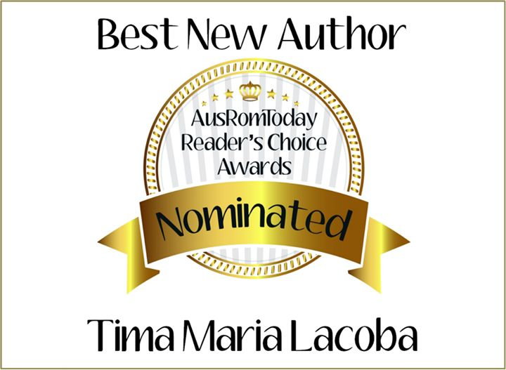 I've been nominated for the AusRom Readers Choice Best New Author for 2014 Award. Yay! Please vote for me https://www.facebook.com/media/set/?set=a.742122642492277.1073741830.620418747996001&type=3