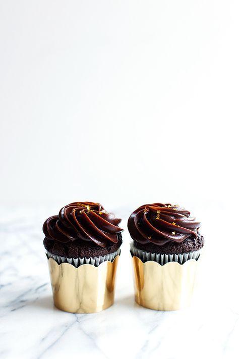 Double Chocolate Sour Cream Cupcakes