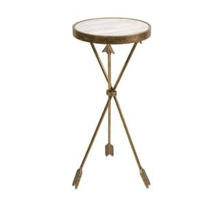 Arrow Marble Top Table   Overstock.com Shopping - The Best Deals on Coffee, Sofa & End Tables