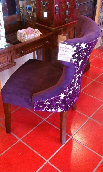 Purple vanity chair   dressing room   Pinterest   Vanities ...