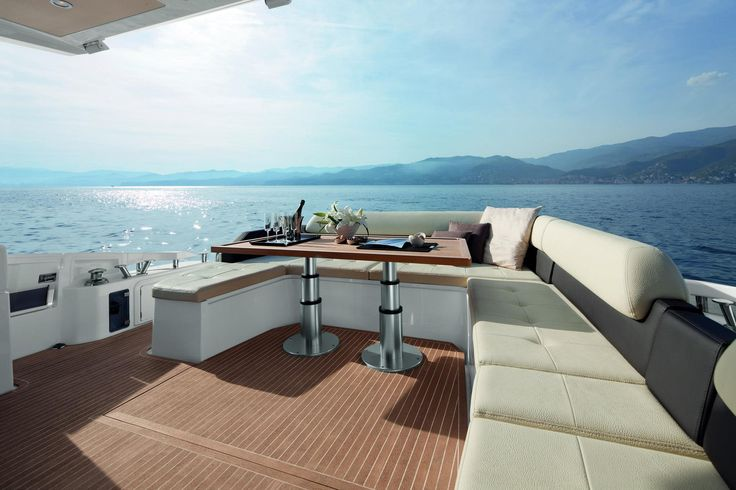 Azimut 55 39 yacht exterior deck seatech marine products for Pontoon boat interior designs