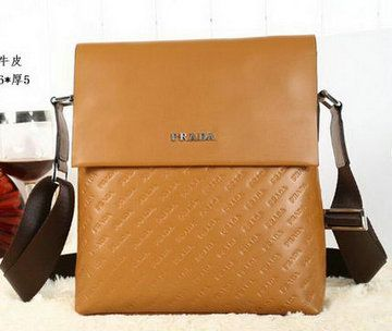 Prada Calfskin Leather Messenger Bag P88081 Wheat