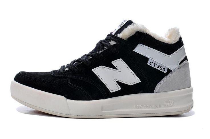 New Balance CT300 Classic Villus Mid Shoes CT300HBK Mens Trainers Black/White
