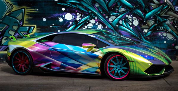 King of the Wrap World   Psycho Hurricane PG NOLA 2015 Lamborghini Huracan Avery Dennison Conform Chrome Silver and Black Chrome with DOL 1370 overlaminate and Avery Dennison High Visibility 1200 Black Reflective