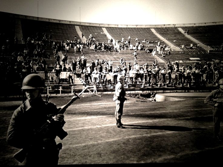 Chile National Stadium, 1973 - Here the Pinochet regime tortured and murdered hundreds of persons