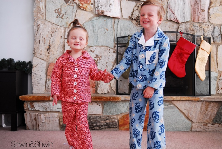 So cute! Free pattern for kids' Christmas jammies from Shwin & Shwin.