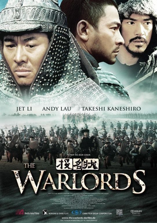 """The Warlords (2007) Tau ming chong (original title) R   2h 6min   12 December 2007 (China) - It's a heroic tale of three blood brothers and their struggle in the midst of war and political upheaval. It is based on """"The Assassination of Ma,"""" a Qing Dynasty (1644-1911) story about the killing of general Ma Xinyi. The story was filmed by Zhang Che in 1973 as The Blood Brothers."""