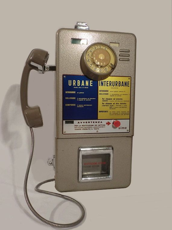 Vintage Telefono Pubblico Italiano a Gettoni anni '70 di IdeeRetro, €600.00