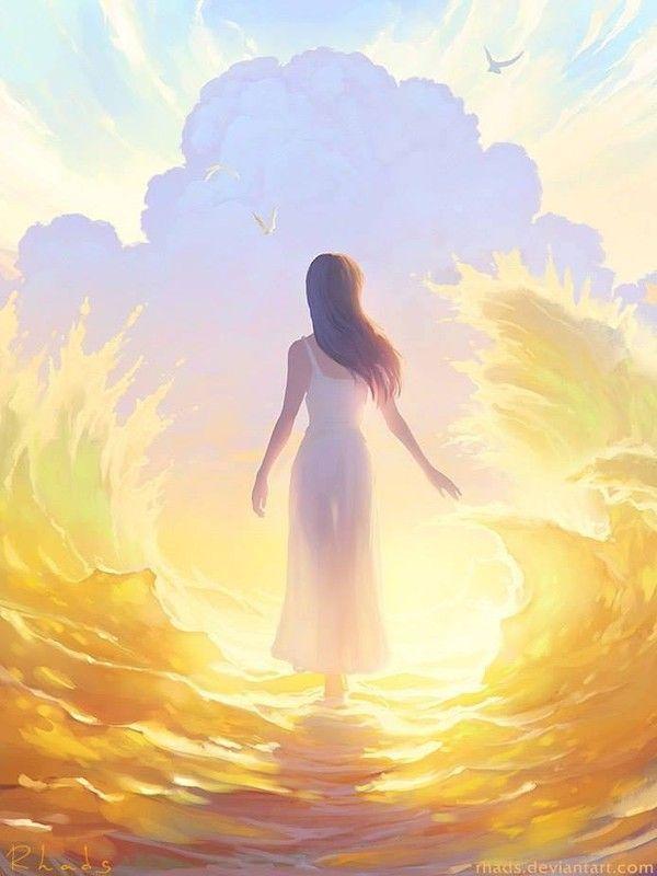 Картинка солнышко и ангел