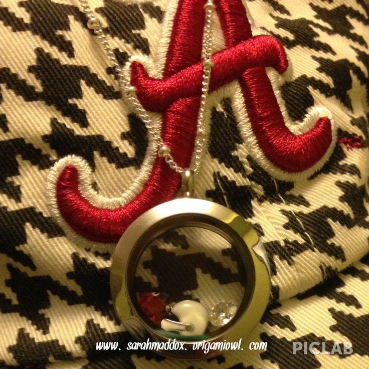 #Roll Tide #origami owl football #alabama football Design your own football locket at www.sarahmaddox.origamiowl.com