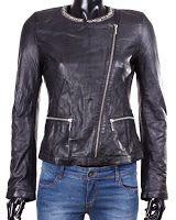 Geaca Zara Dama Cristinne Black Leather (Zara)