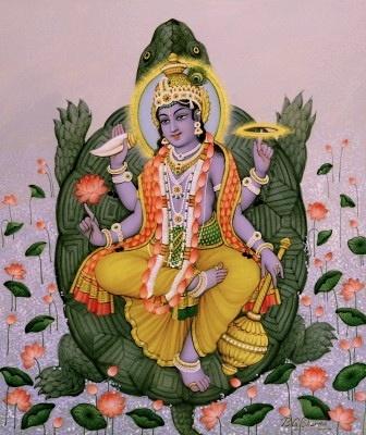 Viṣṇu as Kurma avatar