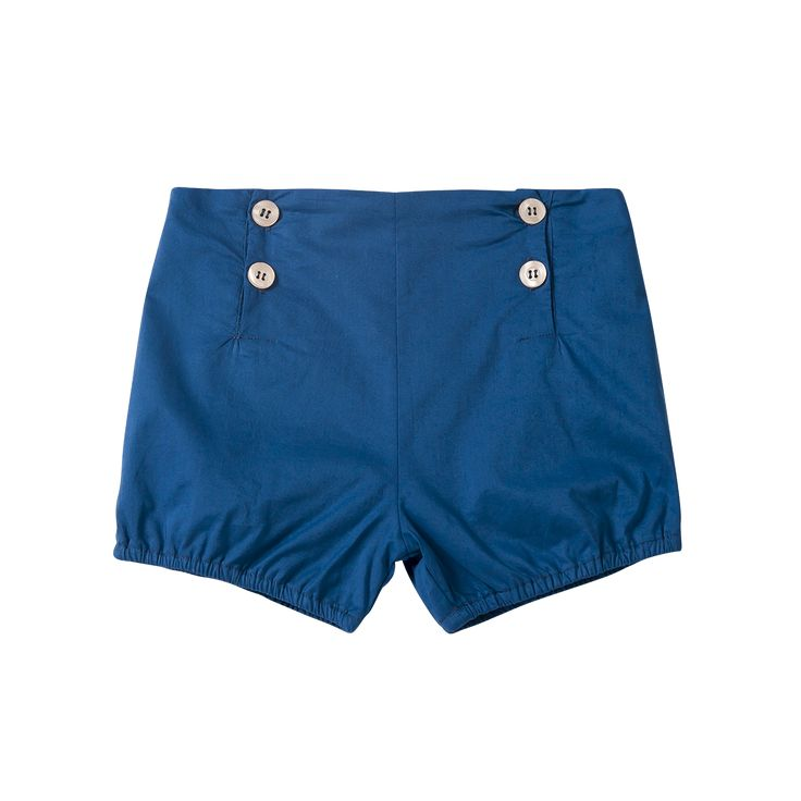 Navy Buttoned Shorts / The Happyology Artist Collection