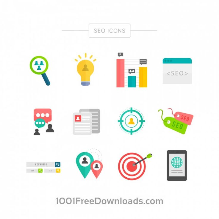 Free Vectors: SEO Icons | Business