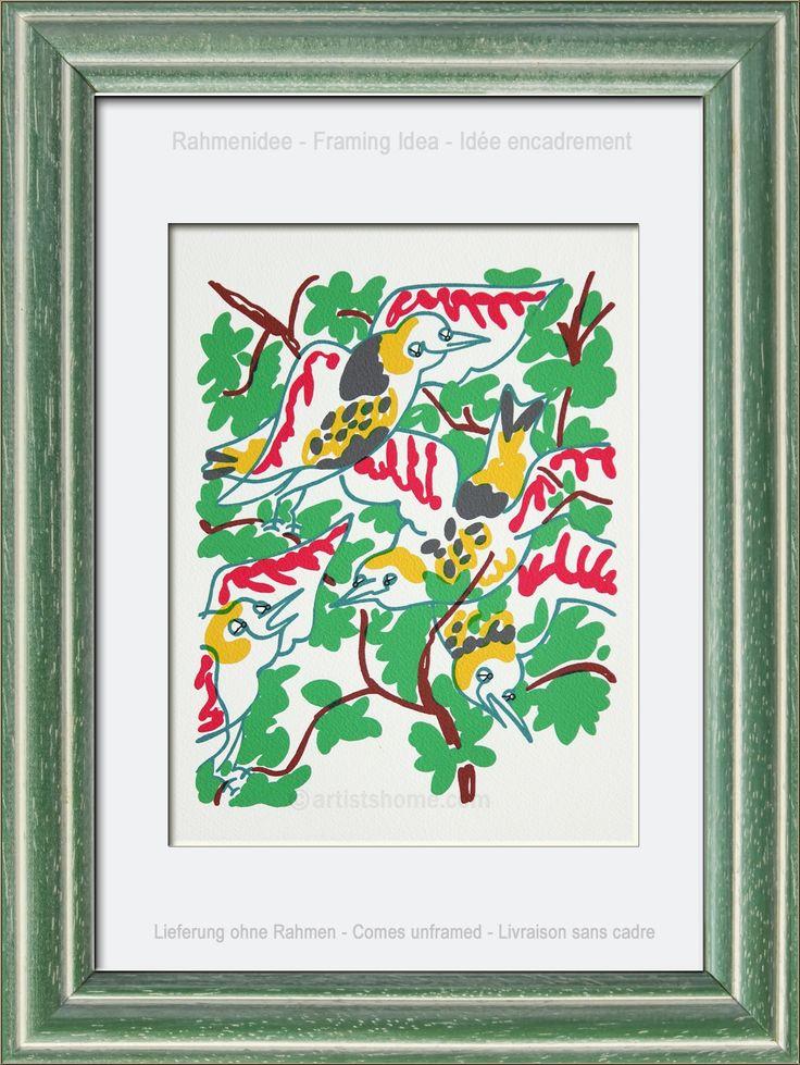 Charles Lapicque: Original Lithograph Birdsong 'Le chant des oiseaux' 1972 - Genuine Prints | Lithographs