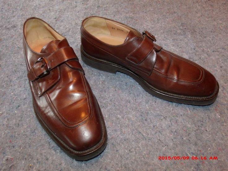 Mens 10.5 M Johnston & Murphy Domani Italian Monkstrap Leather Shoes  #JohnstonMurphy #LoafersSlipOns
